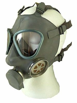 Original Military Finnish M61 Rubber Gas Mask Voice Enhancer + New Filter Unworn