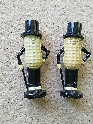 vintage Planters Mr Peanut Salt Shakers Advertising Pyro Plastic 4""
