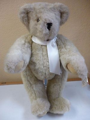 """Vermont Teddy Bear 16"""" w/ Tags and Stand movable joints"""