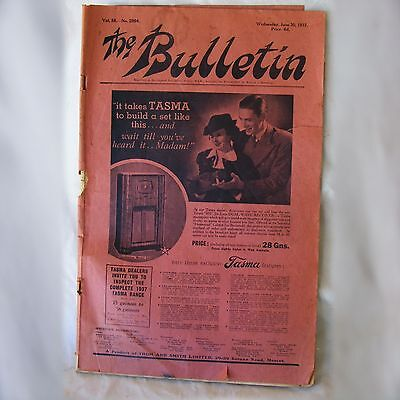 1937 The Bulletin front page Radio Advertisment Seppelts Scotch Ford wireless