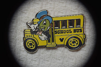 Disney Pin 64869 2008 Hidden Mickey Back to School Bus Lunch Box Jiminy Cricket