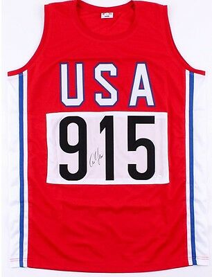 Carl Lewis Signed USA Jersey 10 Olympic Medals Running Champion