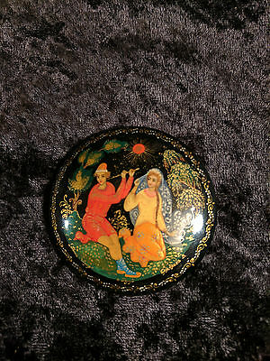 "VINTAGE MSTYORA LACQUER PAINTED BROACH ""Song of Lelya"""