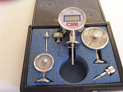 Chicago Stainless Equipment Cse Sani-Flow Digital Thermometers & Gauges In Case