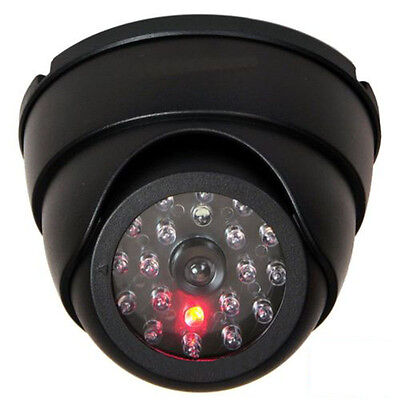 Dummy Fake Surveillance Security Dome Camera With 30pcs Flashing Red LED Light