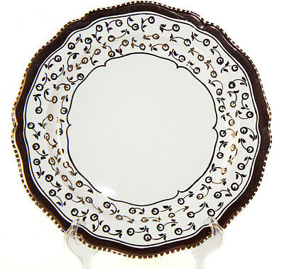 Set of 11, handpainted Wedgwood copper lustre plates, mid-1920s [1871]