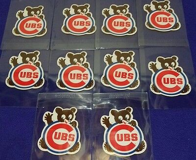 Lot Of (10) Original Vintage 1970's Chicago Cubs Stickers