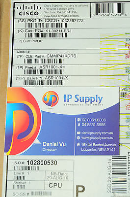*Brand New* Cisco ASR1001-X 4-Port GigE Aggregation Services Router 6MthWty