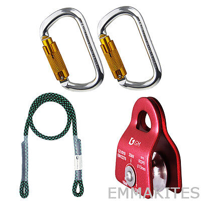 """Basic Tree Climbing Kit For Climber Pulley System 30"""" Prusik Pulley Arborist"""