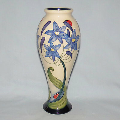 Moorcroft Fly Away Home Vase Rachel Bishop 75/8 As New With Box