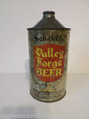 Vintage Rare Quart Scheidt's Valley Forge IRTP 220-11 Cone Top Beer Can