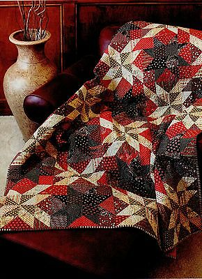 """Paprika  Finished Size-60""""x72""""    Quilt  Pattern Only"""