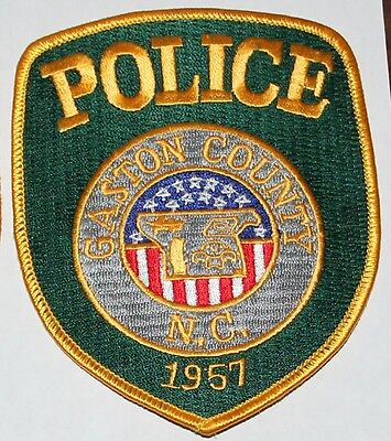 GASTON COUNTY POLICE North Carolina NC Co PD Yellow Letters patch