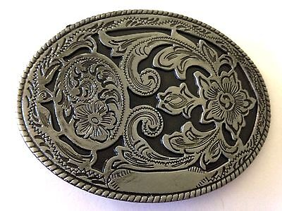 Metal Belt Buckle - Cowgirl/floral/country & Western/rodeo/rose  - New