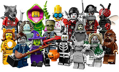 Lego  Minifigures (Monsters) - Series 14 - Complete Set Of 16 - Perfect !
