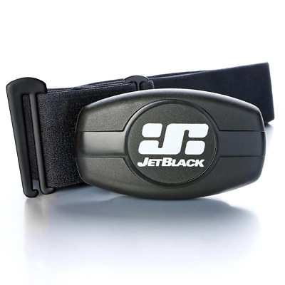 Jet Black Heart Rate Monitor - Dual Band Technology (Bluetooth / ANT +) - Soft S