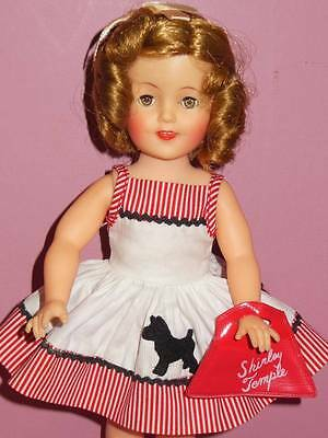 "Vintage Vinyl Ideal Shirley Temple 12"" Doll In Rare Scotty Dress"