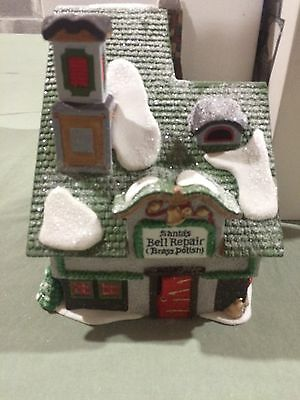 """DEPT 56 NORTH POLE """" SANTA'S BELL REPAIR """" Heritage Collection"""