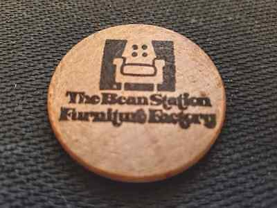 Bean Station Furniture Factory Wooden Nickel-1986-Good Condition