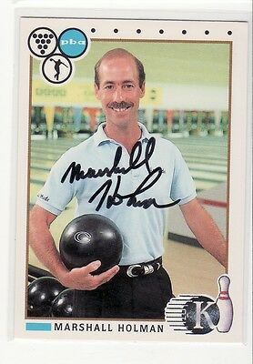 Marhsall Holman Bowling Pba  Autographed Card Hard To Find