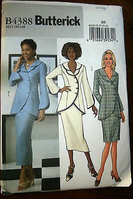 Oop Butterick 4388 unlined formal jacket skirt shaped sleeve size 8-14 NEW