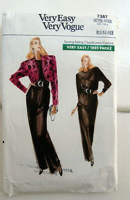 Oop Retro Very Easy Very Vogue 7387 Jacket Jumpsuit sizes 12-16  NEW