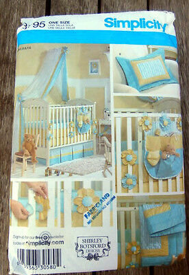 Oop Simplicity 3795 Shirley Botsford Nursery Accessories quilt canopy sheet NEW