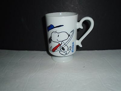 1965 Snoopy Home Run King Pedestal Style Coffee Cup