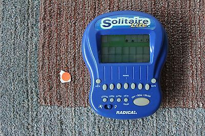 Radica Big Screen Blue Solitaire Lite Electronic Handheld (1997) - Tested WORKS