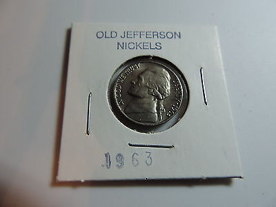 1963  US American Nickel coin A604