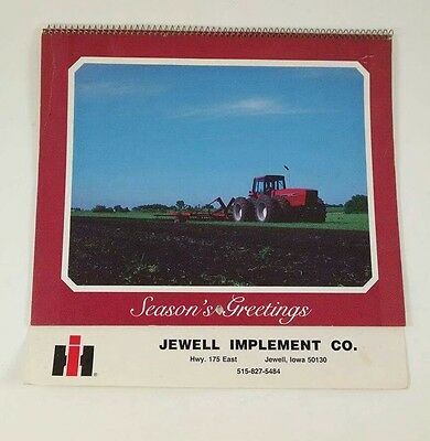 1985 Jewell Iowa IH Tractor Truck Dealer Calendar International Harvester