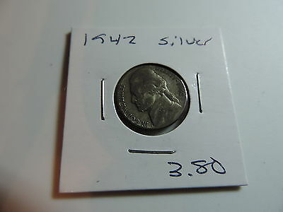 1942 US American Nickel coin A565