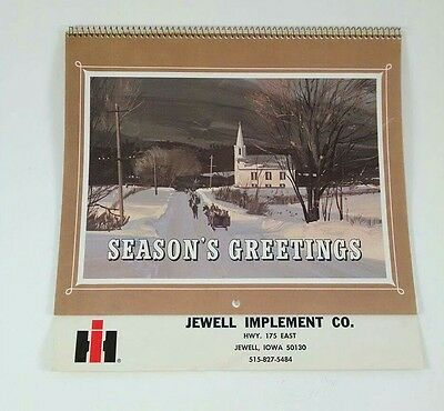 1980 Jewell Iowa IH Tractor Truck Dealer Calendar International Harvester