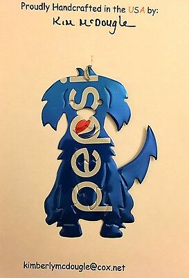 Dog Recycled Aluminum P Cola Soda Pop Can Art Christmas Ornament