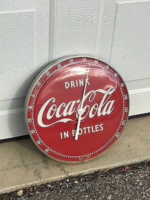 Vintage Drink Coca Cola In Bottles Thermometer