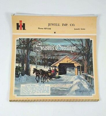 1967 Jewell Iowa IH Tractor Truck Dealer Calendar International Harvester