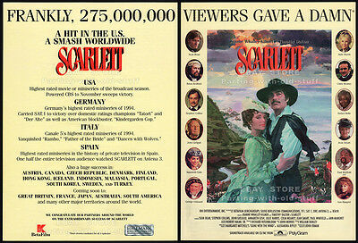 SCARLETT__Original 1994 Trade AD / poster__TV movie promo__JOANNE WHALLEY__GWTW