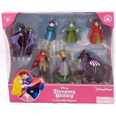 MALEFICENT SLEEPING BEAUTY AURORA Figurine Cake Topper Set Disney Princess New