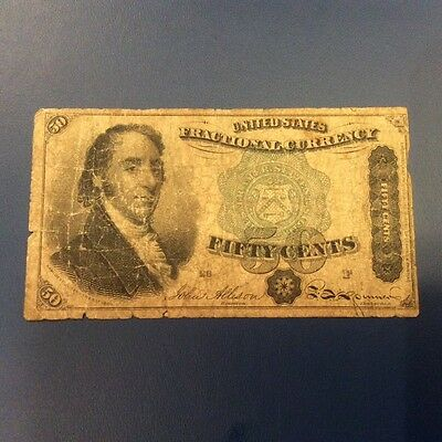 US Fractional Currency 50 Cents 4th Issue