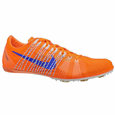 New Nike Zoom Victory 2 Mens Track Spikes Mid Distance Shoes Orange : Size 7.5