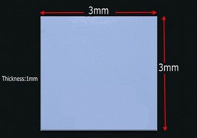5Pcs 30x30mmx1mm GPU CPU Heatsink Cooling Thermal Conductive Silicone Pad Blue
