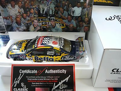 1/18 Classic Carlectables Year 2006 Bathurst Winner Ford Falcon Lowndes Whincup