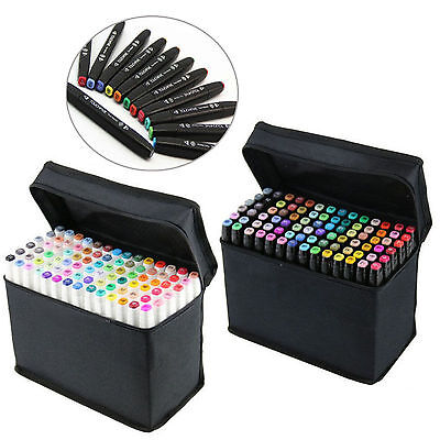 10/20/50/80pcs Double Headed Alcohol Ink Markers for Beginners Hobby Artists Set