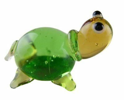 Miniture Glass Figurines-Glass Aquatic Figurine Animals - Turtle