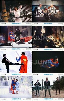 SUPERMAN II (1980) U.S. Lobby Cards Complete Set of 8 (11 x 14 Inches)