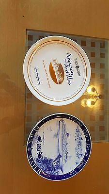 2 fred Olsen limited edition china plates porsgrund pottery one