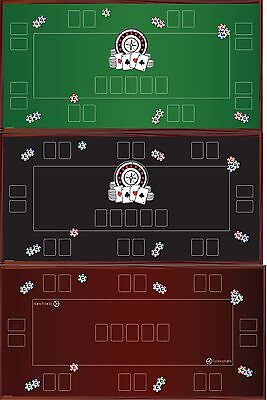 Pokertischauflage|Poker Matte|Pokertisch|Poker Mat|Texas Holdem|Custom|160x80 cm