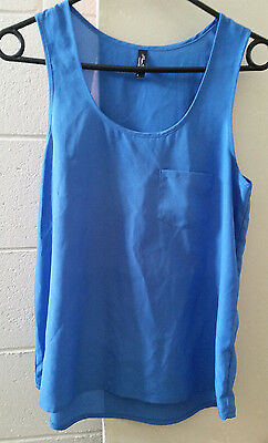 Miss Shop light blue tank sleeveless top size 8 XS