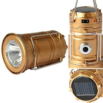 Collapsible Solar High Powered Rechargeable Camping Lantern Light LED Hand Lamp