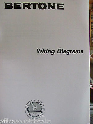 BERTONE X1/9 Wiring Diagrams original P7535076 tabloid size layout of all wiring